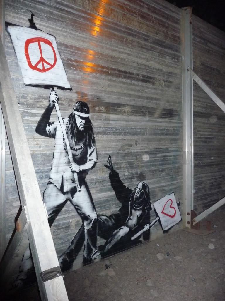 Banksy at Glastonbury