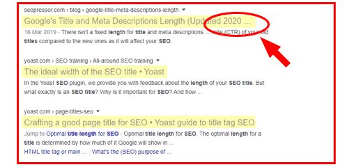 Ensure you maintain short titles for SEO