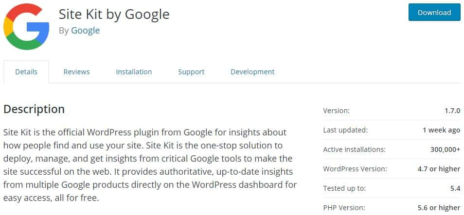 Google Site Kit WordPress Plugin