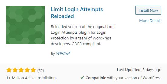 limit login attempts reloaded plugin